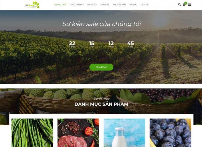 Các bước thiết kế website thực phẩm dinh dưỡng