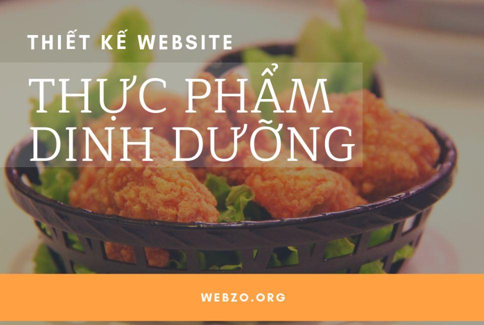 Thiết kế website thực phẩm dinh dưỡng