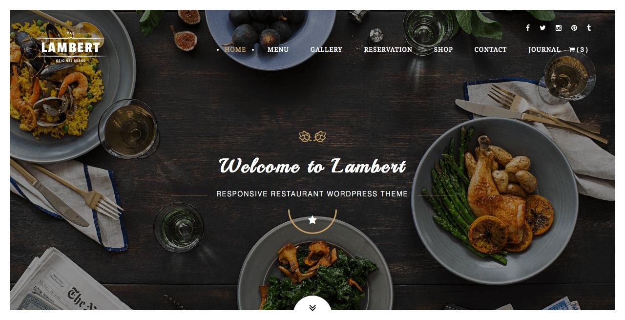 Mẫu website nhà hàng Lambert