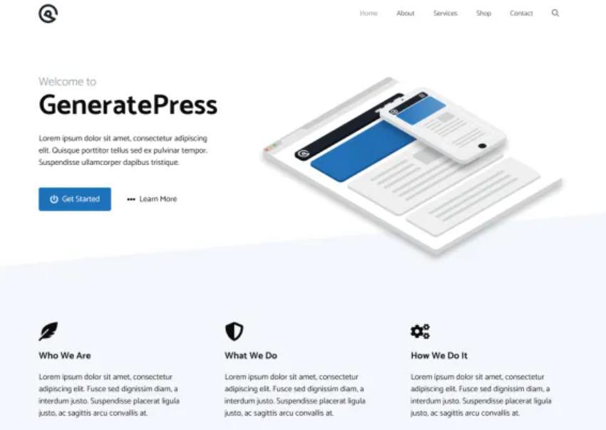Themewordpress đẹp GeneratePress