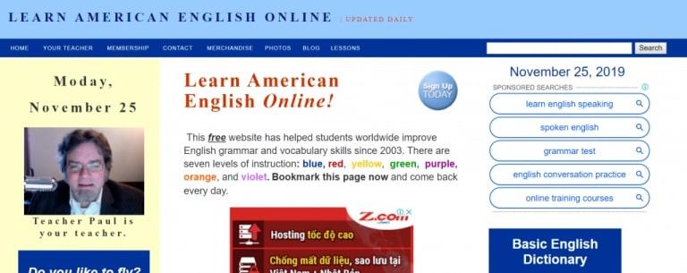 các trang web học tiếng anh hiệu quả